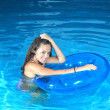 Stock Photo: Attractive girl in pool