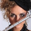 Stock Photo: Sexy Flautist
