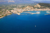 The island of Zakynthos Greece from the air — Stock Photo