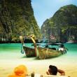 Maya bay Phi Phi Leh island — Stock Photo