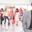 Portrait of a salesman in the shopping mall — Stock Photo #2796251
