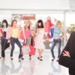 Portrait of a salesman in the shopping mall — Stock Photo #2796532