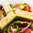 Greek salad, in closeup.  — Stock Photo