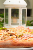 Fresh Pizza ready to be eaten — Stock Photo