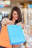 Sexy sacos de exploração comercial garota — Foto Stock