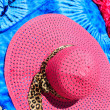 Sarong and straw hat — Stock Photo