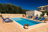 Luxurious villa with pool — Stock Photo