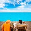 Couple at summer resort — Stock Photo