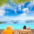 Stock Photo: Couple at summer resort