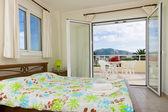 Bedroom of a private villa — Stock Photo