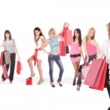 Group of shopping girls — Stock Photo #2865795