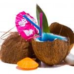 Fresh coconut cocktail — Stock Photo #29966217