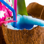 Fresh coconut cocktail — Stock Photo #29966291