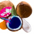 Fresh coconut cocktail — Stock Photo #29966465