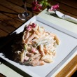 Stock Photo: Fresh paston restaurant table