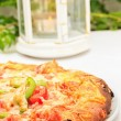 Stock Photo: Pizzwith MozzarellCheese, Fresh Tomato
