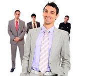 Zespół czterech ludzi biznesu — Zdjęcie stockowe