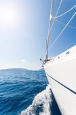 Sailing boat in the sea in Greece — Stock Photo