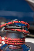 Sailboat Winch and Rope Yacht detail — Stock Photo