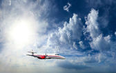 Private airplane inflight — Stock Photo