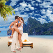 Couple in love on the beautiful bay of Phi Phi — Stock Photo