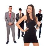 Equipo de cuatro personas de negocios — Foto de Stock