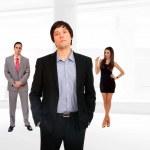 Three people Business team — Stock Photo