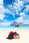 Beach gears at Koh Phi Phi island at day time — Stock Photo