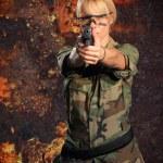 Sexy woman with gun — Stock Photo #31359097