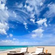 Sunbed on the beach — Stock Photo #32312087