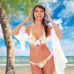 Beautiful woman on the beach. — Stock Photo #32313131