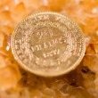 Twenty French Francs coins — Stock Photo #32620465