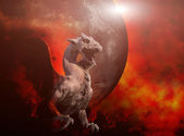 Molten roch dragon — Stock Photo