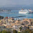 Top view on the city of Corfu Kerkyra — Stock Photo