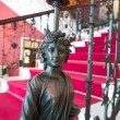 Statue on the stairway of the Achillion palace in Corfu — Stock Photo