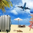 Beach travel tourism concept — Photo