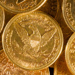 Five Dollars gold coins — Stock Photo