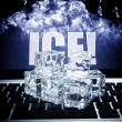 Stock Photo: Ice cubes on computer keyboard