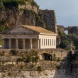 Hellenic temple at Corfu island — Stock Photo