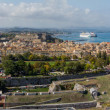 View on Corfu town — Foto Stock