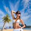 Young woman on the beach  — Stock Photo