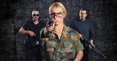 Special tactics team up for action — Stock Photo