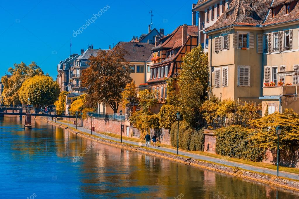 sunny autumn day in strasbourg france stock photo 34262827. Black Bedroom Furniture Sets. Home Design Ideas