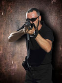 Shooting with the big guns — Foto de Stock