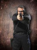Pistola tiro de hombre — Foto de Stock