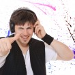 Young man listening music. — Stock Photo #35355489