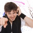 Young man listening music. — Stock Photo #35355529