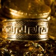 Stock Photo: Jewels and gold coins