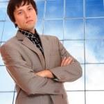 Business man posing — Stock Photo