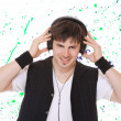 Young man listening music. — Stock Photo #35959709